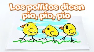 Canciones Infantiles - LOS POLLITOS DICEN PIO PIO PIO (Songs for kids in Spanish) Little Dubbi