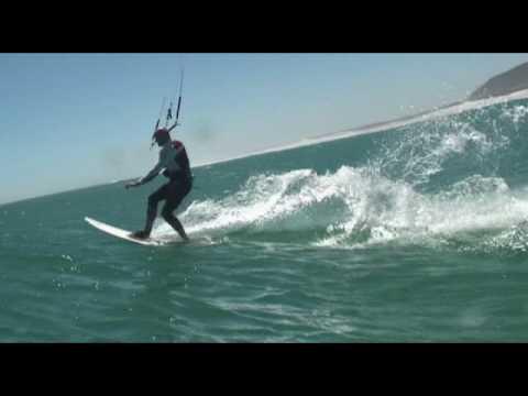 Great White Attacks Kitesurfer cameraman - South Africa