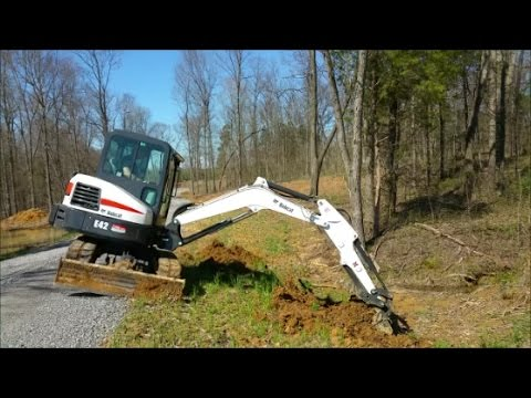 Adding Additional 500 lb Counter Weight To Bobcat E42 Excavator & Trying it  Out!