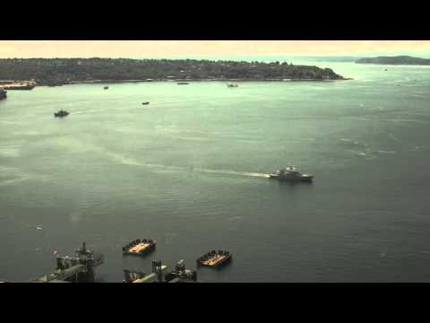 Seattle Seafair Torchlight Parade of Ships time lapse photography/video