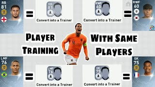 Player Training Tips with Same Players Pes 2019 Mobile Bug trick to train Players to its Max Level