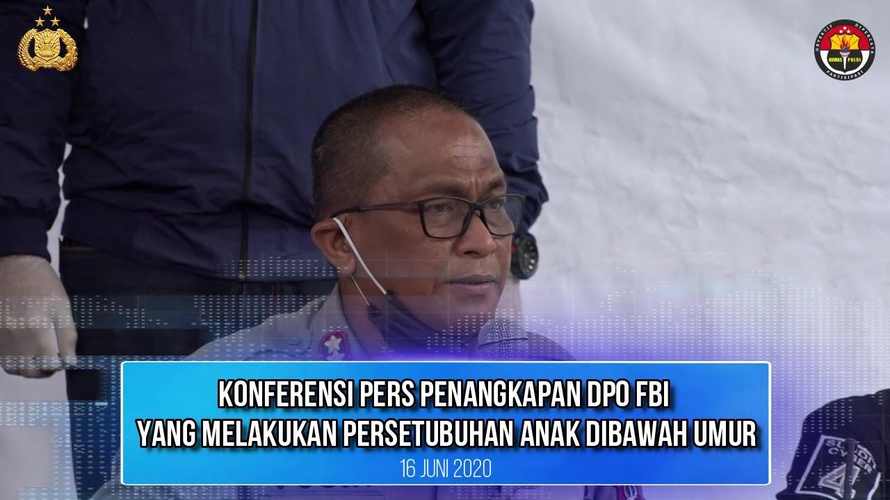 Konferensi Pers Pengungkapan Kejahatan Anak DPO FBI