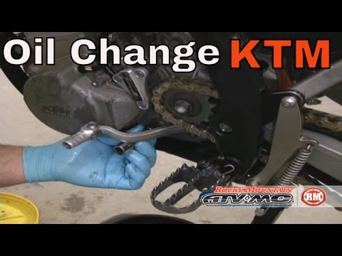 How To Change Oil on KTM RFS 4 Stroke Motorcycle/ATV