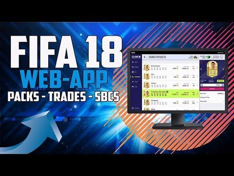 FIFA 18 FUT    Die Web-App ist online! Packs, Trading, SBCs & Teams bauen!