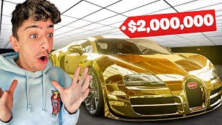 Driving the MOST Expensive Car in the WORLD!! (GOLD BUGATTI)