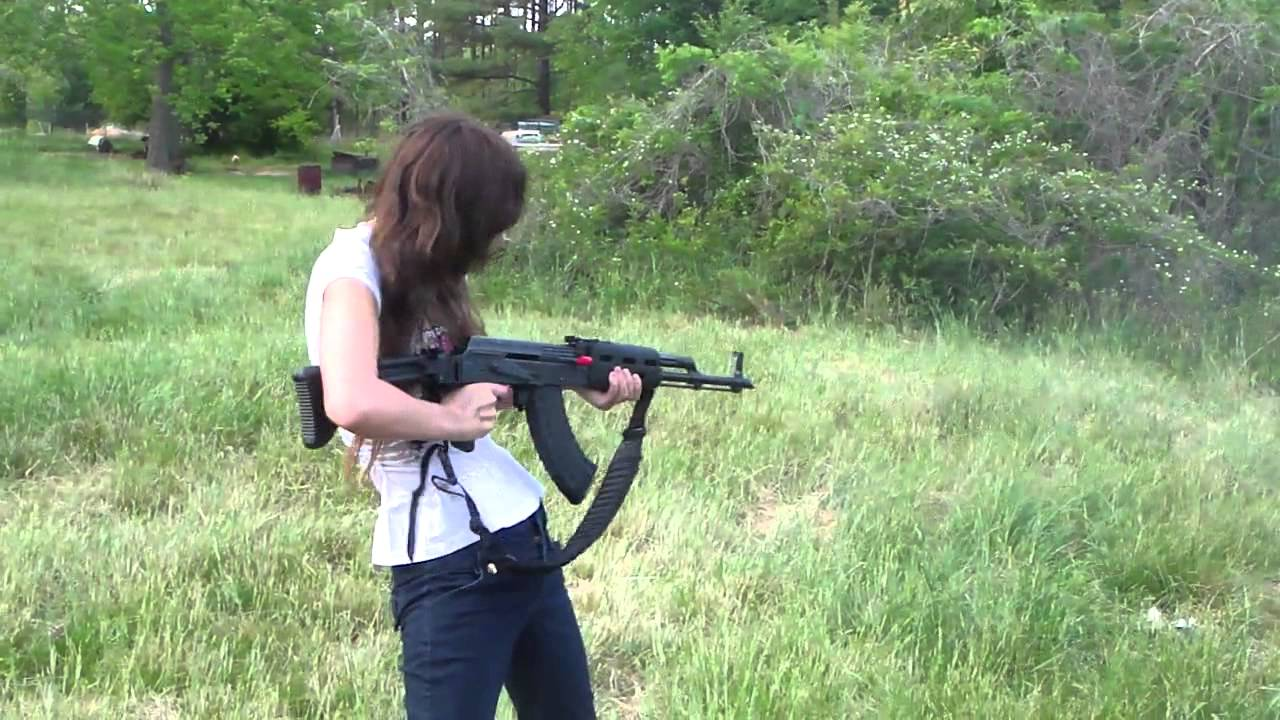 Girls Shooting Slidefire and AK-47 having too much fun