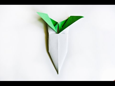 How to make a paper Oriental Radish    origami Vegetables   Easy origami