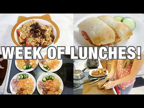 WEEK OF LUNCHES!   WHAT MY KIDS EAT   QUICK, EASY, HEALTHY IDEAS!