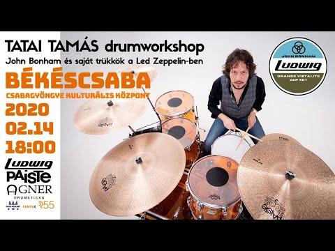 Tatai Tamás / John Bonham és Saját Trükkök A Led Zeppelin-ben Drumworkshop, Drumsolo