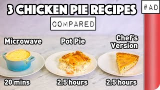 3 Chicken Pie Recipes Compared (Microwave vs Pot Pie vs Chef's Version)