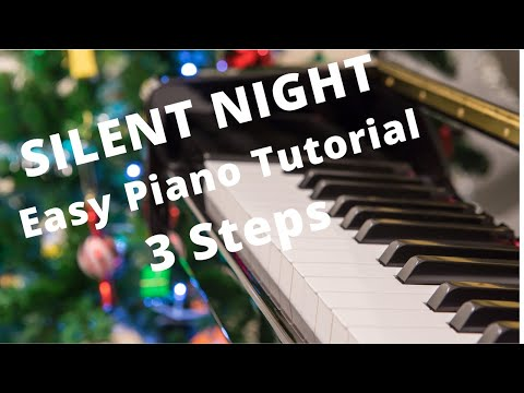 Silent Night Beginner Easy Piano Christmas Sheet Music Video Tutorial Lesson Learn in 20 Minutes