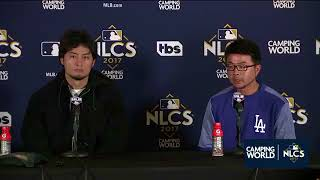 Yu Darvish Postgame Interview | Dodgers vs Cubs Game 3 NLCS