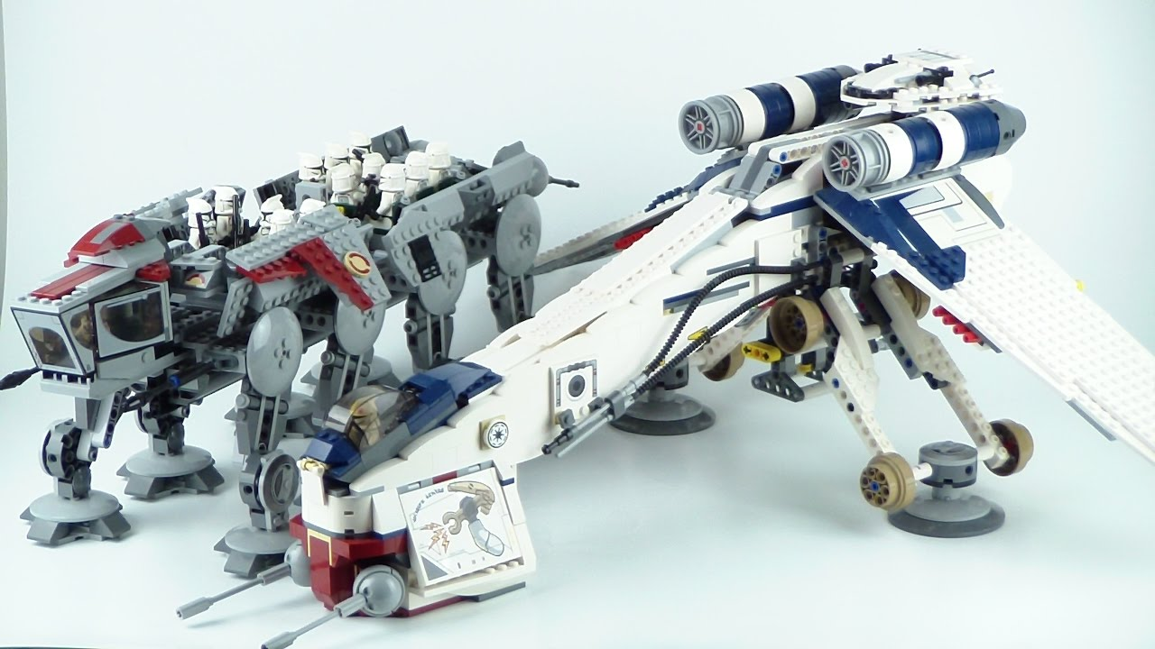 Lego Star Wars Republic Dropship With At Ot 10195 Review