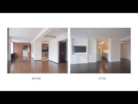 Reconfiguring 2BR on Upper West Side - W 70th St. NYC Before & After