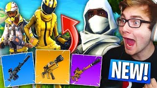 *NEW* SKYDIVE TRAILS, WEAPONS, SKINS, and MORE Coming to Fortnite: Battle Royale! (Season 3 Update)