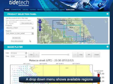 Malacca and Singapore Straits Online tidal viewer