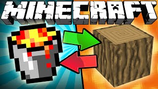 If Lava and Wood Switched Places - Minecraft