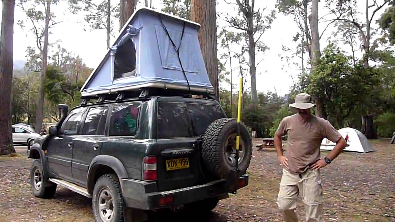 Beautiful Setting Up The Roof Top Tent In 30 Seconds   YouTube