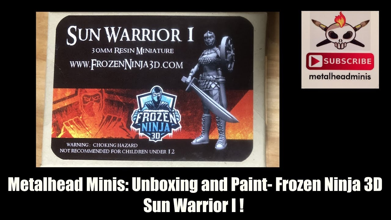 Metalhead Minis: Painting Frozen Ninja 3D Sun Warrior I (Time Lapsed)!