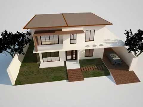 Sample 3d Model House In Cinema 4d