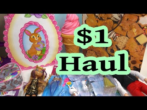 $1 Toy Haul Goodwill Goodies Dollar Tree Store Disney Frozen Monster High Mermaid Dolls Playset
