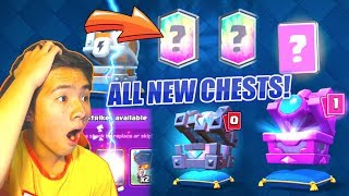 OPENING ALL NEW ROYAL CHESTS + LEGENDARY KING'S CHEST   Clash Royale NEW Update 2018