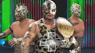 WWE 2K16 Mods - Super Lucha Dragons - Rey Mysterio, Sin Cara & Kalisto LEOPARD Camo Attires Mod
