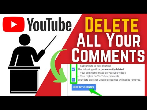 How To Delete All Your Comments On Youtube 2021