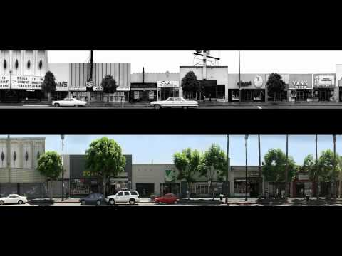 Ed Ruscha's Hollywood Boulevard, 1973 and 2002 (Modern Architecture in Los Angeles)
