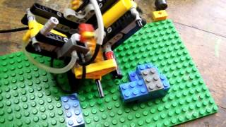 Lego V2 pneumatic engine