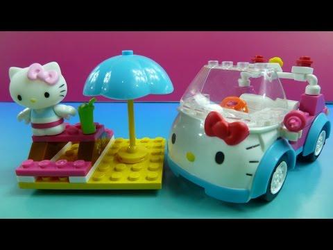 """Lego Hello Kitty"" Lắp Ghép Xe Hơi Cho Mèo Kitty""- Mega Blocks ""Hello Kitty Surfing"""