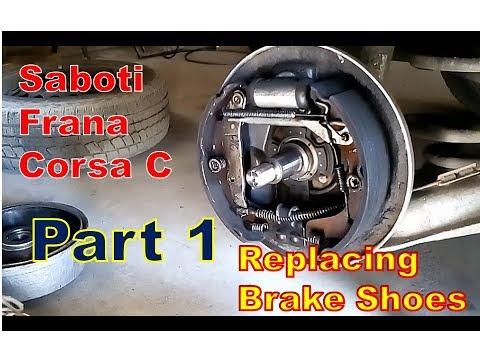 Schimbare Saboti Frana Opel Corsa C -- Brake Shoes Replacement  PART 1