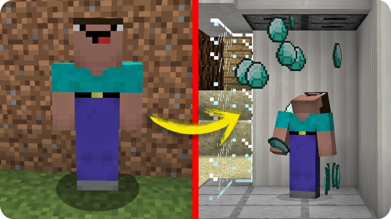 noob minecraft vs diamante infinito troll noob evoluciona a pro rico en minecraft youtube. Black Bedroom Furniture Sets. Home Design Ideas