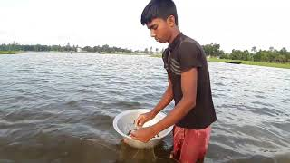 Primitive Fishing: Catching Fish By Primitive Long Net