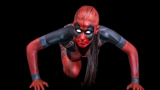 Download LADY DEADPOOL - Body Paint Mp3 and Videos