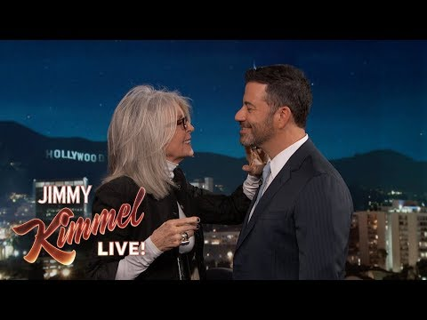 Diane Keaton Shows Jimmy Kimmel How She Wants to Be Kissed