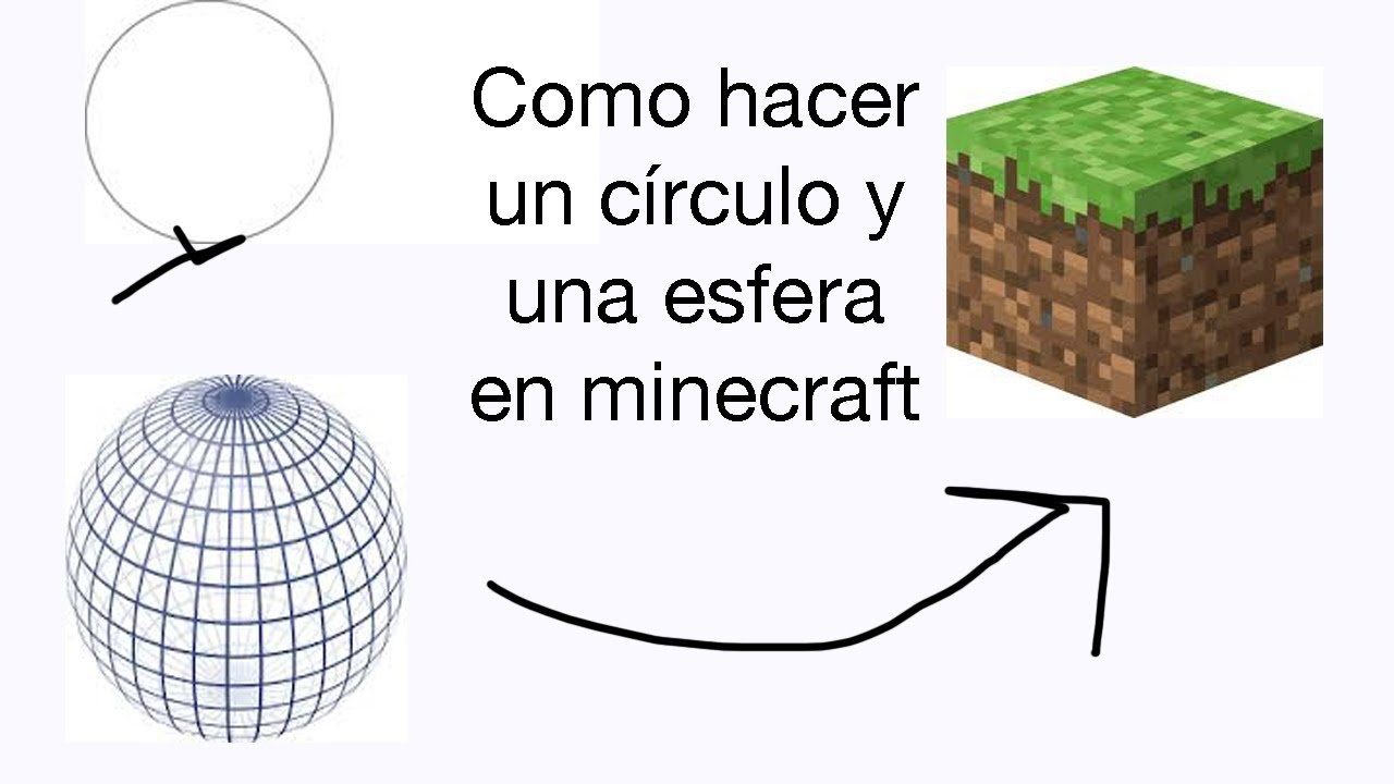 Como hacer un c rculo y una esfera en minecraft youtube - Como construir un zapatero ...