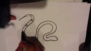 How to Draw a Snake - Easy Things to Draw
