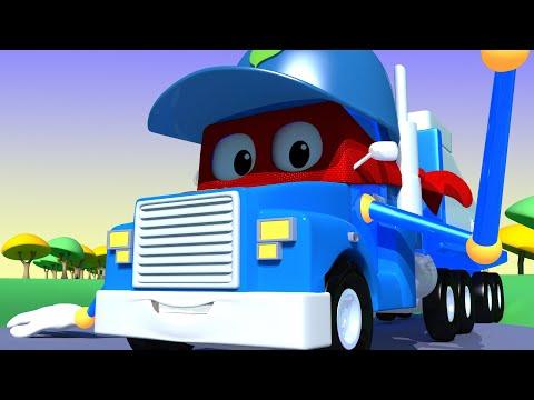 Dia das Mães: o caminhão de reciclagem  - Carl o Super Caminhão na Cidade do Carro | Desenho animado