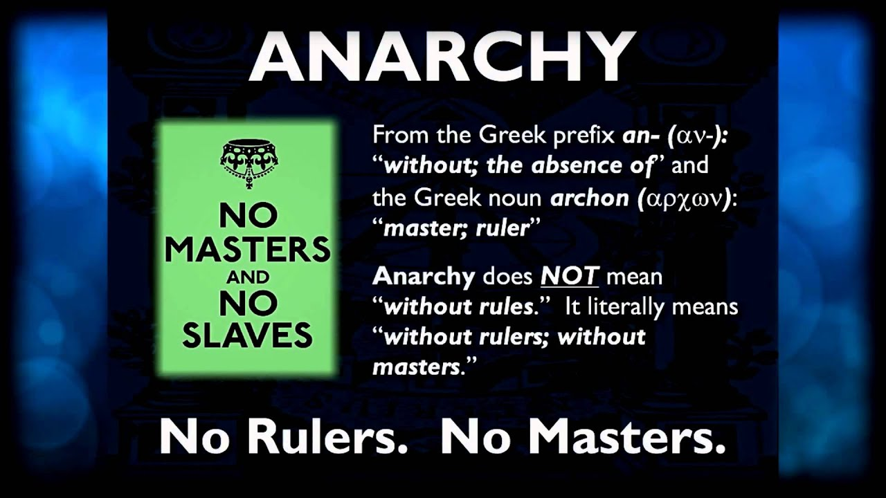 a paper on anarchism and its meaning A1 what is anarchism this faq is part of the process of changing the commonly-held ideas regarding anarchism and the meaning of anarchy anarchistic tendencies and organisations in society have existed long before proudhon put pen to paper in 1840 and declared himself an anarchist.