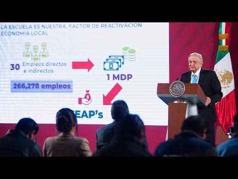 Infodemia y creación de empleos con La Escuela es Nuestra. Conferencia presidente AMLO