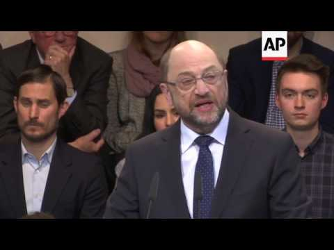 Germany's SPD name Schulz new party leader