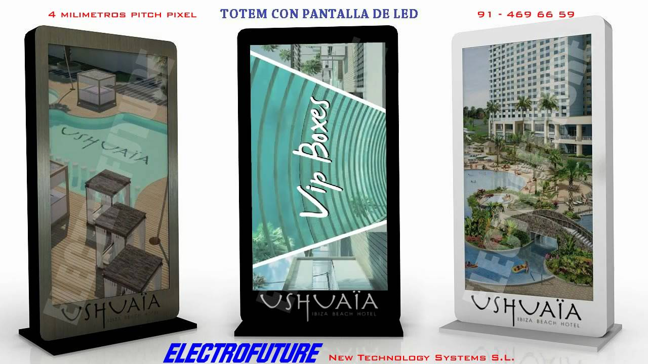 Totem pantalla led electrofuture youtube - Pantalla led cultivo interior ...