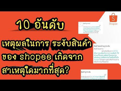 10 อันดับเหตุผล shopee ระงับสินค้า เกิดจากสาเหตุใดมากที่สุด?   ไตรมาสแรก 2021