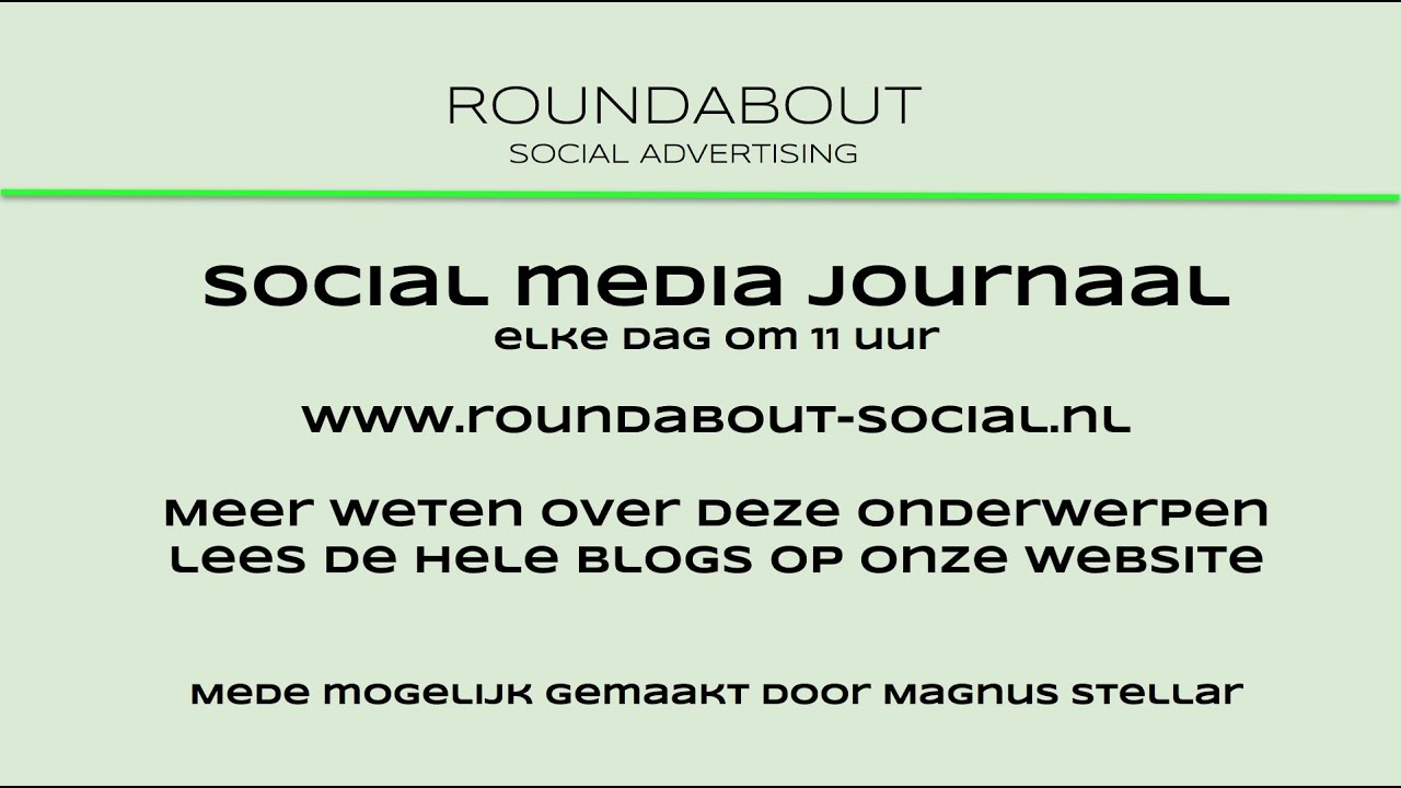 Roundabout social media journaal 15 april 2020