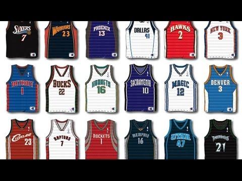 All my Basketball Jerseys