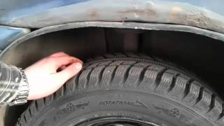 Renault Logan-Переобувка летних колес на зимние.Об