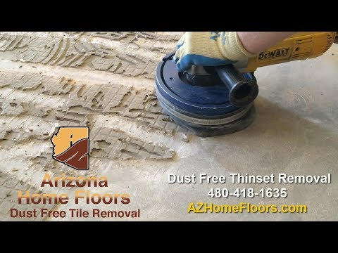 Thinset Removal Dust Free - Cleaning dust after tile removal