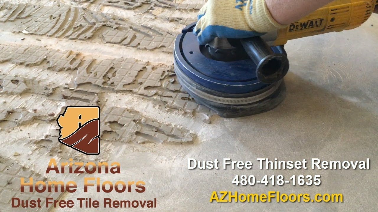 How To Remove Thinset Dust Free A