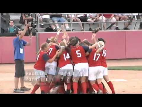 Pacelli High School wins the 2012 WIAA Division 3 Softball Championship